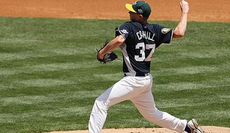 Trevor Cahill has been added to the rotation for the Oakland Athletics.