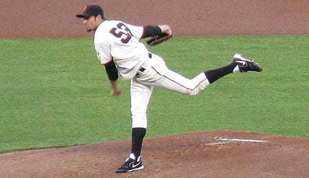 Jonathan Sanchez is looking strong for the San Francisco Giants.