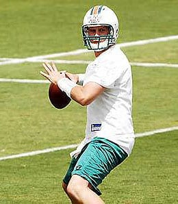 Chad Henne is a sleeper for the Miami Dolphins.