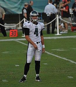 Kevin Kolb has taken over as the starting QB for the Philadelphia Eagles.