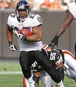 Ray Rice had a breakout year for the Baltimore Ravens.