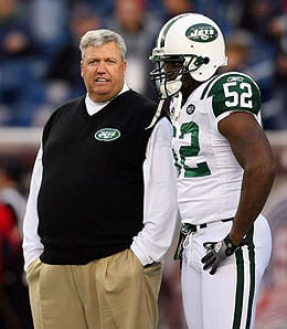 David Harris is the leader of the New York Jets defense.
