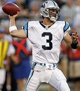 Matt Moore suffered a concussion for the Carolina Panthers.