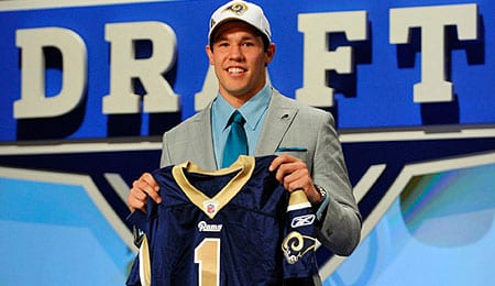 Sam Bradford has a tough job ahead of him with the St. Louis Rams.