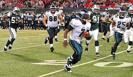 Michael Vick is now hurting for the Philadelphia Eagles.
