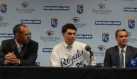 Eric Hosmer will soon be mashing for the Kansas City Royals.
