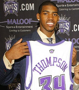 Jason Thompson is showing his talent for the Sacramento Kings.
