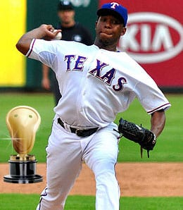 Neftali Feliz was brilliant for the Texas Rangers.