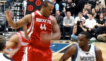 Chuck Hayes has been playing superb defense for the Houston Rockets.