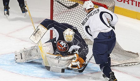 Kevin Poulin has looked sharp for the New York Islanders.