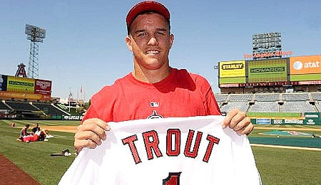 Mike Trout has been called up by the Los Angeles Angels.