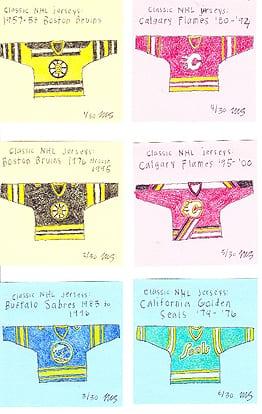 Mathieu Santos hockey jersey drawings
