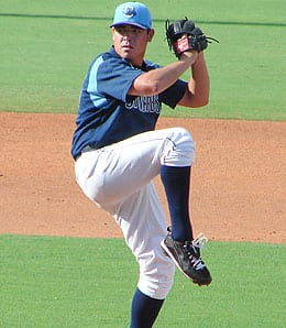 Matt Moore has become the top pitching prospect in the game for the Tampa Bay Rays.