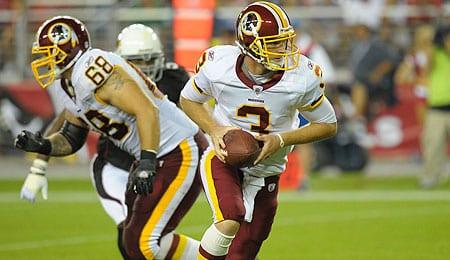 John Beck is now quarterbacking the Washington Redskins.