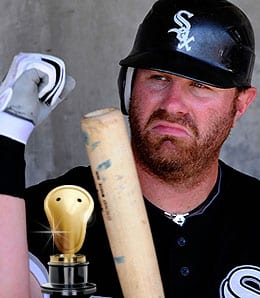 Adam Dunn couldn't hit his way out of a wet paper bag for the Chicago White Sox.