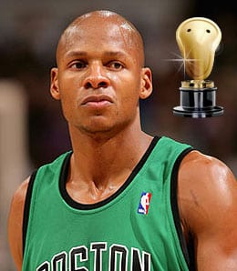 Ray Allen keeps filling it up from downtown for the Boston Celtics.