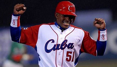 Yoenis Cespedes is garnering interest from the Miami Marlins.