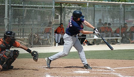 Adam Pettersen is trying to work his way up the Minnesota Twins organizational chart.