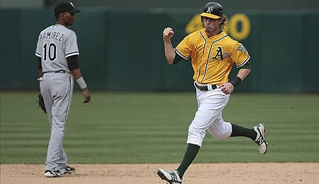Josh Reddick has been playing well for the Oakland A's.