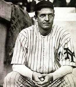 Christy Mathewson never tossed a perfect game for the New York Giants.