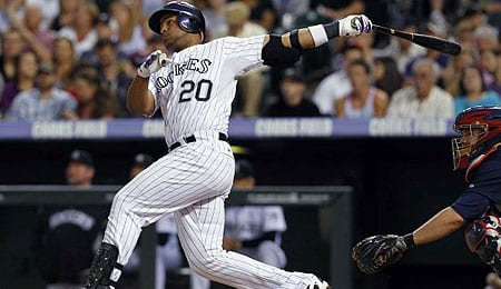 Wilin Rosario has flashed serious power for the Colorado Rockies.