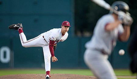 A.J. Vanegas has pitched very well for the Stanford Cardinal.