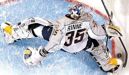 Pekke Rinne wasn't quite as sharp for the Nashville Predators last season.