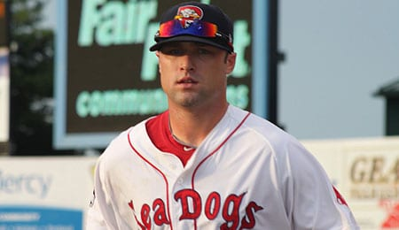 Bryce Brentz is moving up the Boston Red Sox organization.