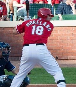 Mitch Moreland is enjoying a nice season for the Texas Rangers.