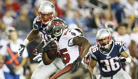 Mike James took advantage of Doug Martin's injury for the Tampa Bay Buccaneers.