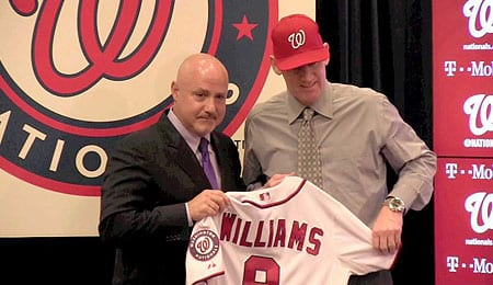 Matt Williams will try to get the Washington Nationals back the playoffs.