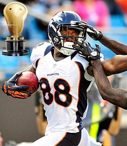 Demaryius Thomas is part of an amazing receiving corps for the Denver Broncos.