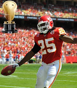 Jamaal Charles was seriously studly for the Kansas City Chiefs.