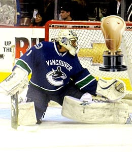 Roberto Luongo had to return and play for the Vancouver Canucks.