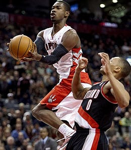 Terrence Ross went off for a season high of 24 points Friday for the Toronto Raptors.
