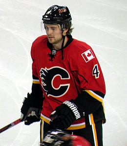 Kris Russell is back in action for the Calgary Flames.