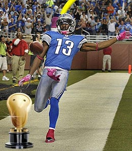 Nate Burleson loves his pizza for the Detroit Lions.