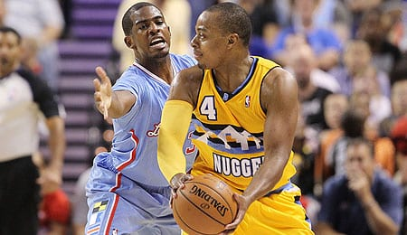 Randy Foye has moved back into the starting lineup for the Denver Nuggets.