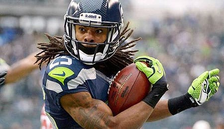 Richard Sherman went squirrely for the Seattle Seahawks.