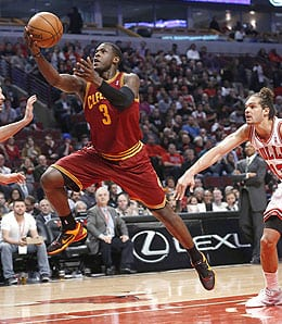 Dion Waiters is starting to light it up for the Cleveland Cavaliers.