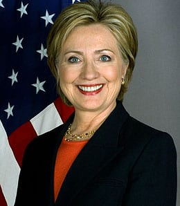 Hillary Clinton flashed a sense of humour on Twitter.