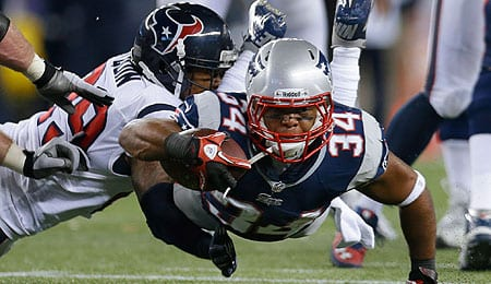 Shane Vereen didn't have as big an impact on the New England Patriots last year.