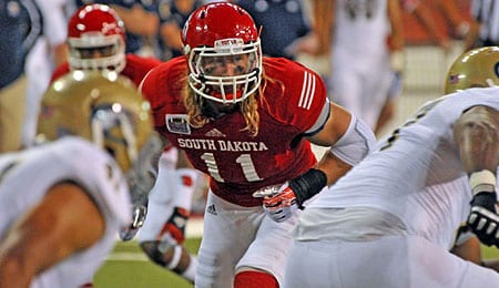 Tyler Starr is a rising NFL prospect for the South Dakota Coyotes.