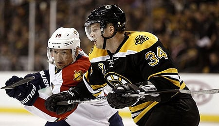 Carl Soderberg is enjoying a fine rookie season for the Boston Bruins.