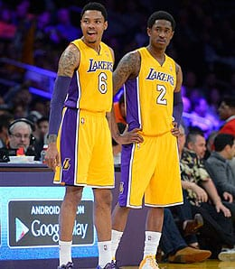 Kent Bazemore is making friends on the Los Angeles Lakers.