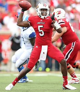 Teddy Bridgewater of the Louisville Cardinals is a big time prospect in the upcoming NFL draft.