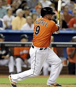 Casey McGehee isn't hitting like a journeyman for the Miami Marlins.