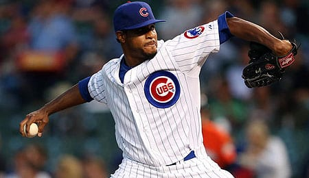 Edwin Jackson has been racking up the Ks for the Chicago Cubs.