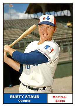 Rusty Staub was a key member of the original Montreal Expos.