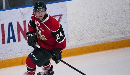 Nikolaj Ehlers is an offensive dynamo for the Halifax Mooseheads.